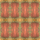 Art nouveau pattern with flowers Stock Photos