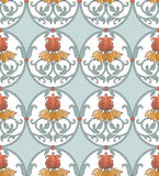 Art nouveau pattern with flowers Stock Photography