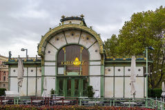 The Art Nouveau pavilion, Vienna Royalty Free Stock Photography
