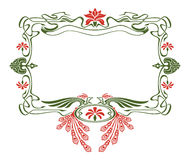 Art nouveau picture frame with birds Royalty Free Stock Images