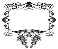 Art nouveau picture frame with birds Stock Photo