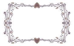 Art nouveau picture frame Stock Photo