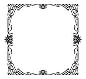 Art nouveau picture frame Royalty Free Stock Photo