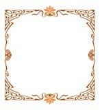 Art nouveau picture frame Stock Image