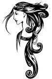Art Nouveau portrait vector Stock Photography