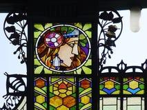 Art Nouveau in Prague. Art Nouveau in central Prague Stock Photography