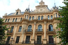 Art Nouveau a Riga fotografia stock libera da diritti