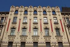 Art Nouveau Riga royalty-vrije stock afbeelding