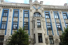 Art Nouveau in Riga Stock Images