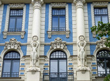 Art Nouveau in Riga. Building at 4a Strēlnieku iela, by Mikhail Eisenstein Royalty Free Stock Image