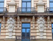 Art Nouveau in Riga. Jungendstil at its best in Rigas Art Nouveau district Royalty Free Stock Photo