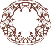 Art Nouveau round frame Stock Photography