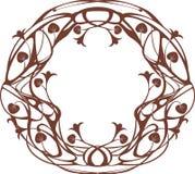 Art Nouveau round frame Stock Photography