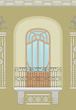 Art Nouveau - seamless facade Stock Image