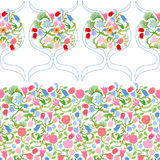 Art Nouveau seamless pattern with fulips and roses. Stock Photography