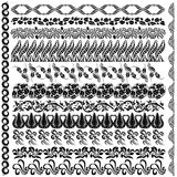 Art nouveau silhouette pattern edge element Stock Image