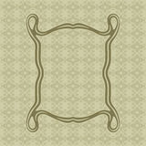 Art Nouveau smooth lines decorative rectangle vector frame for design. Art Deco style border. Art Nouveau elegant smooth lines decorative rectangle vector frame Stock Photography