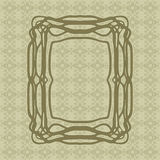 Art Nouveau smooth lines decorative rectangle vector frame for design. Art Deco style border Royalty Free Stock Photography