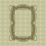 Art Nouveau smooth lines decorative rectangle vector frame for design. Art Deco style border Stock Image