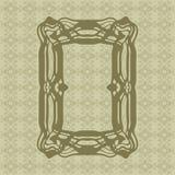 Art Nouveau smooth lines decorative rectangle vector frame for design. Art Deco style border Stock Images