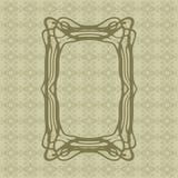 Art Nouveau smooth lines decorative rectangle vector frame for design. Art Deco style border Stock Photo