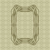 Art Nouveau smooth lines decorative rectangle vector frame for design. Art Deco style border Royalty Free Stock Photos