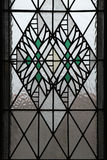 Art Nouveau stained glass window in Hradec Kralove. Stock Images