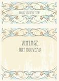 Art nouveau style background stock photos