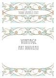 Art nouveau style background Stock Images