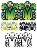 Art Nouveau style border ornament Royalty Free Stock Photography