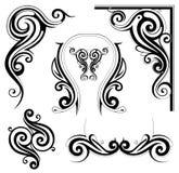 Art Nouveau style elements Royalty Free Stock Images