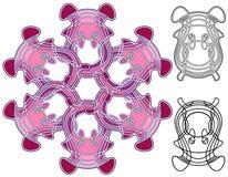 Art Nouveau style kaleidoscopic design Stock Images