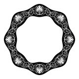 Art nouveau style round frame Royalty Free Stock Photography