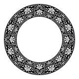 Art nouveau style round frame Royalty Free Stock Image