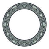 Art nouveau style round frame Royalty Free Stock Photo