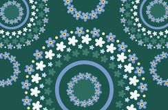 Art nouveau style spring floral background Royalty Free Stock Image