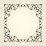 Art nouveau style square frame Stock Photos