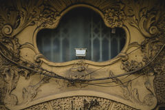 Art nouveau style window, tipical architecture of the Spanish ci Stock Images