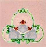 Art Nouveau Tile. An antique Art Nouveau majolica tile Royalty Free Stock Photo