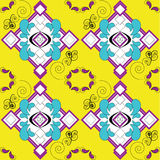 Art nouveau tile or fabric design. An art nouveau inspired tile or fabric pattern. For people who loves striking color like yellow. Its for people who loves to Stock Images