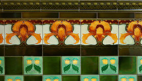 art nouveau tiles Stock Photography