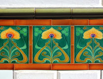 art nouveau tiles Royalty Free Stock Photography