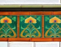 art nouveau tiles Royalty Free Stock Photography
