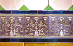 Art nouveau tiles Stock Images