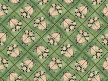 Art nouveau tiles. Muted colors of art nouveau floral tile pattern Royalty Free Stock Image