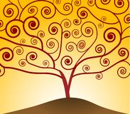 Art Nouveau Tree Royalty Free Stock Photo