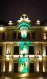 Art Nouveau-voorgevel Royalty-vrije Stock Afbeeldingen