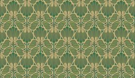 Art nouveau wallpaper Stock Images