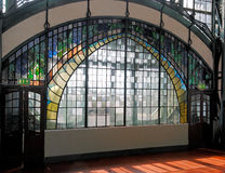 Art-Nouveau Window. Entrance Area of Zeche Zollern, a historical coalmine at Dortmund / Germany Stock Photos