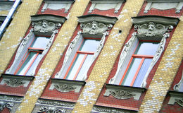 Art Nouveau windows Royalty Free Stock Images